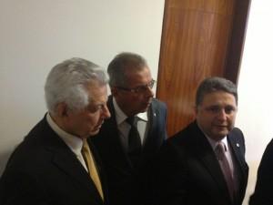 Deputados Federais Anthony Garotinho, Paulo Feijó e Arlindo Chinaglia.