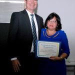 A advogada da REFER, Lúcia de Fátima Rangel de Moraes, também foi homenageada com o certificado de MÉRITO PREVIDENCIÁRIO